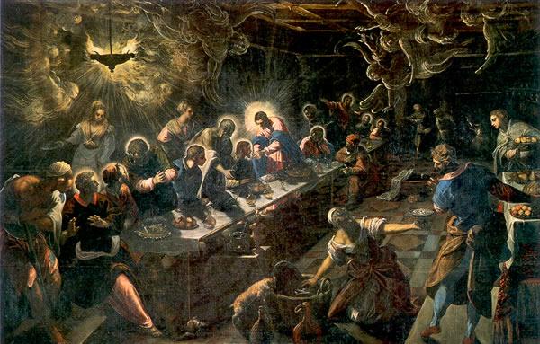 La Última Cena de Tintoretto en la Basílica de San Giorgio Maggiore