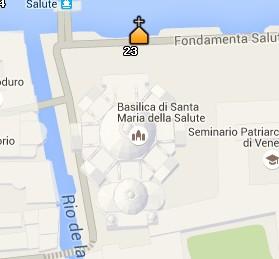 Situación de la Basílica de Santa María de la Salud